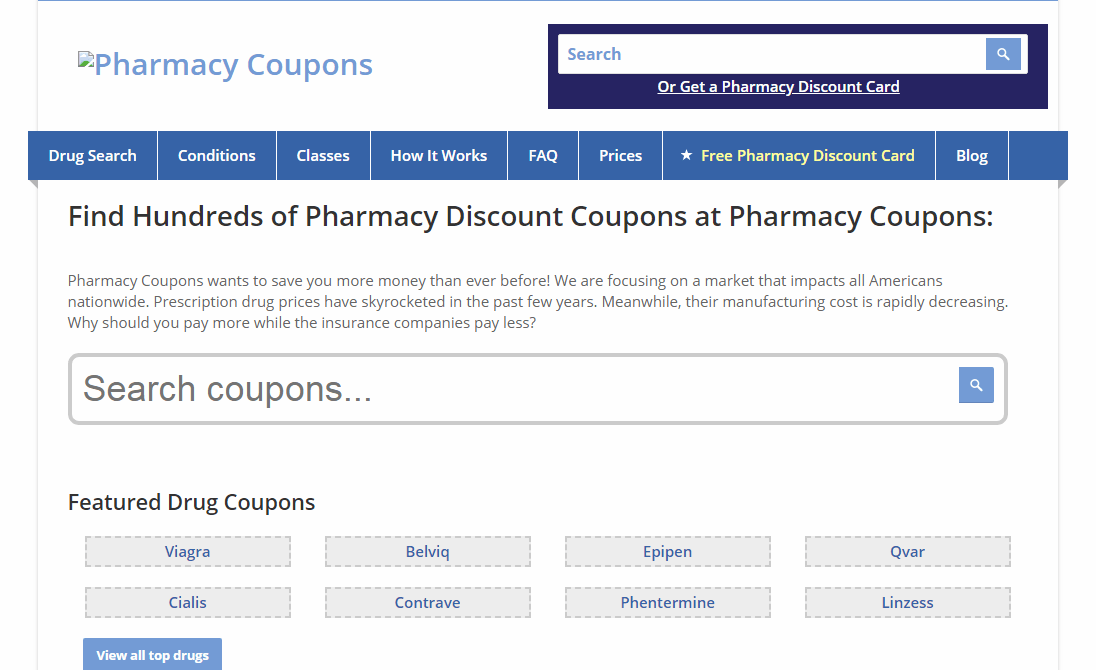 Coupons Pharmacy Medications Deal