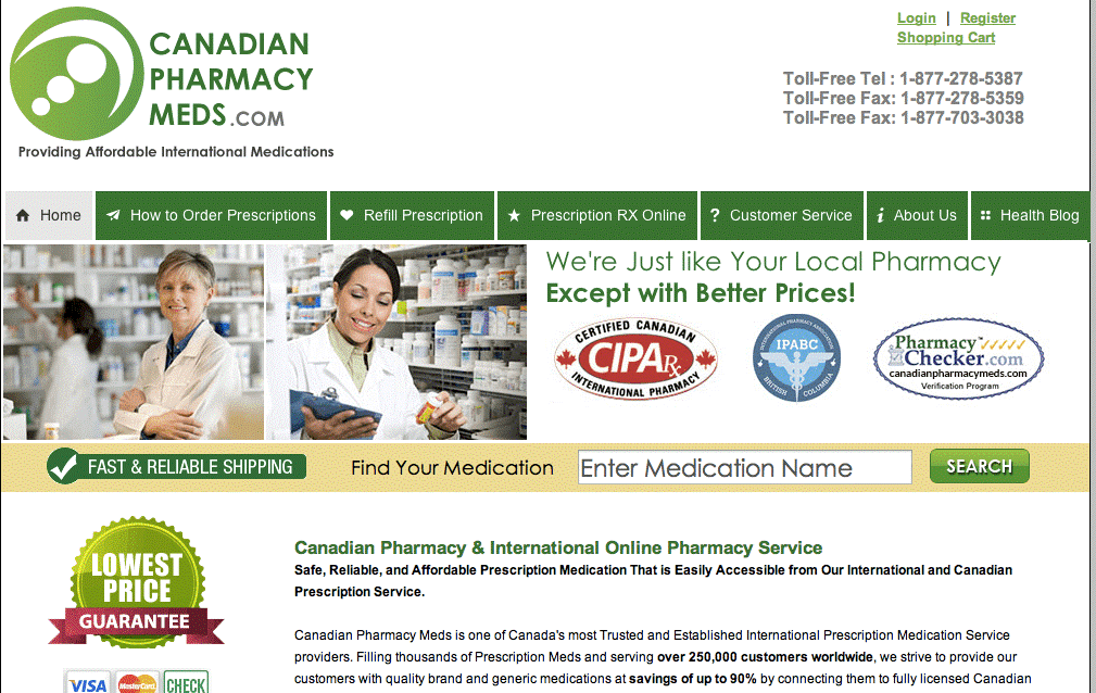 Canadian Pharmacy Meds - Better Priced Drugs for International Buyers