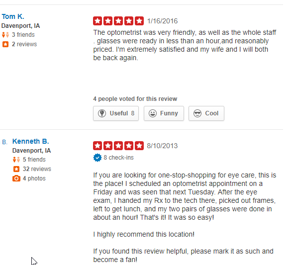 Vision 4 Less Reviews