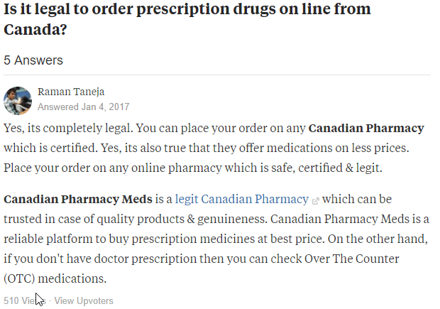 Ordering Prescription Drugs from Canada