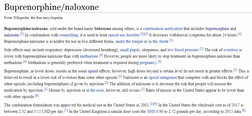 A Shot of the Suboxone Wiki