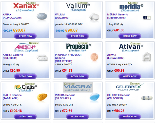 Some of the drugs that were sold at Epharmacity
